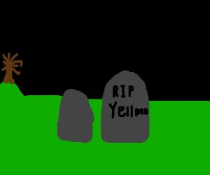 Yell Mo's gravestone