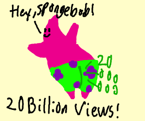 Patrick gets 20 billion view on YouTube