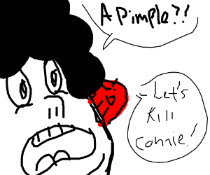 Steven Universe with extremely large pimple