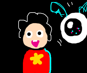 Steven Universe and a flying eye
