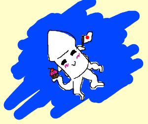 JAPANESE SQUID WANT CUPCAEK