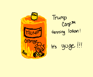 18oz of Trump Company's Tanning Lotion