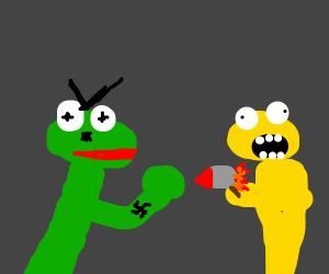 Angry Kermit vs Yellmo