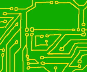 Circuit board obviously built by an amateur.