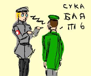 Nazi hypnotises Soviet