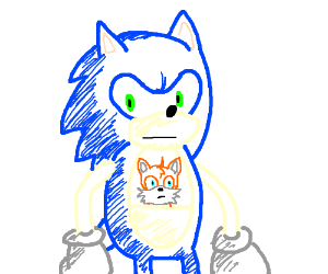 Sonic kangaroo with Tails joey