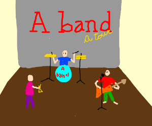 A band on the stage