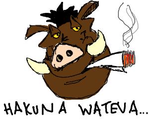 Hakuna Matata but with weed