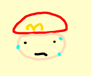 Mario nervous about eating aburger