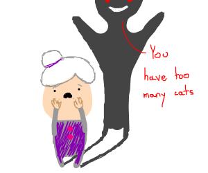 Shadow harasses insecure grandma