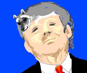 Trump's hair is a raccoon