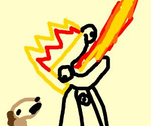 Johnny Test breathing fire