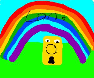 Doorknob nose in rainbow land