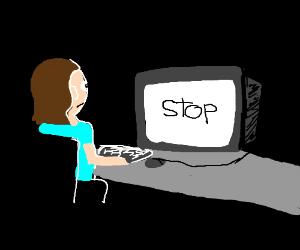"Computer tells man ""stop"""