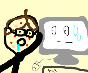 Stroke the computer