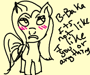 Yandere Chan As Pony From My Little Pony Drawception