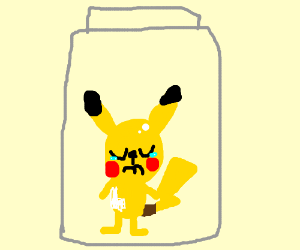 Naked Baby Pikachu Left In A Pill Bottle