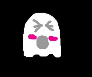 Blushing ghost screams