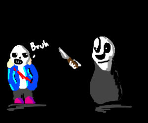 Sans is attacked by the void.