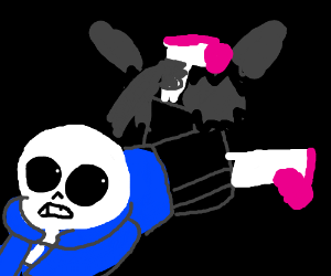 The darkness consumes Sans