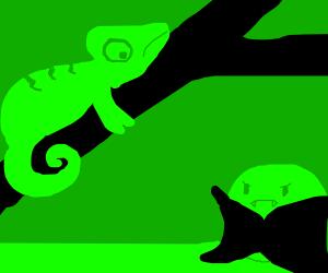 Chameleon and vampire pea