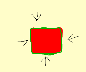 Red box with green outline