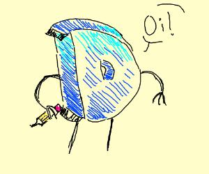 """Drawception D says """"Oi!"""""""