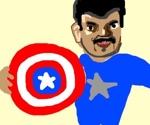 Neil deGrasse Tyson as Captian America