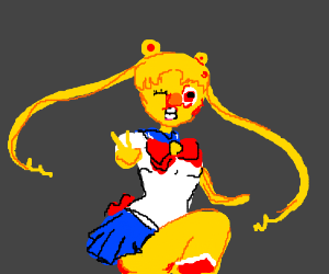 Yellmo Gijinka in a Sailor Moon Outfit