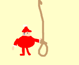 Santa hanging himself