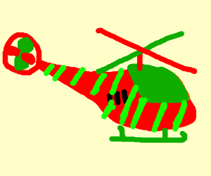 Christmas helicopter