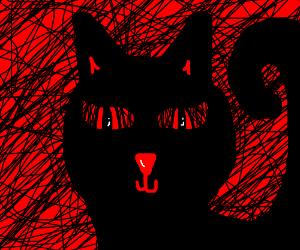 Demonic cat