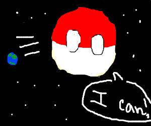 Polandball can into space now