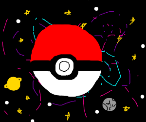 pokeball in space