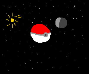 pokeball is a planet