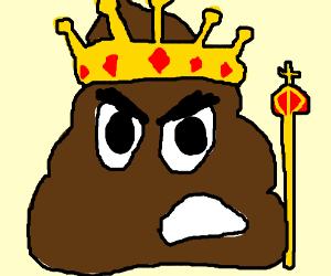 King poop is grumpy!