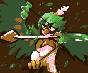 winged muppet shoots an arrow