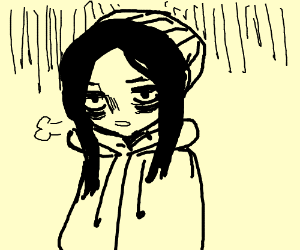 Depressed Girl With Grunge Aesthetic Drawing By Taugeeee Drawception