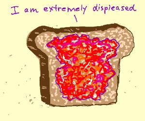 angry toast