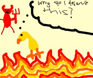 duck in hell