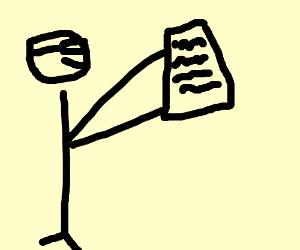 Man reading list