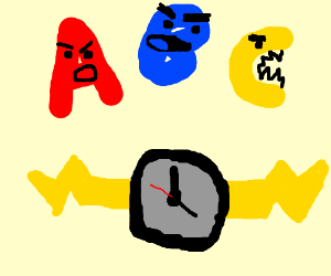 Letters are talking angry lightning watches