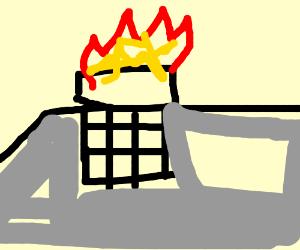 Chimney on fire