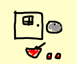 gray ball punch door