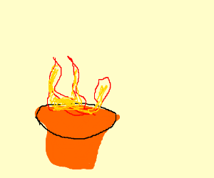 my pot is on fire!!!