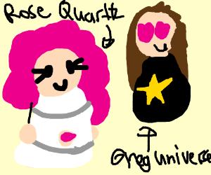Greg Universe looking at Rose Quartz