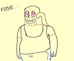 greg with heart eyes for rose quartz