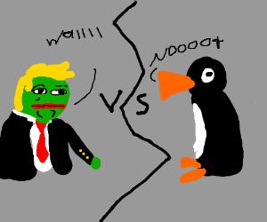 pepe trump vs. nOOT NOOT