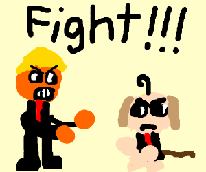 Donald Trump VS. Puppy monkey baby