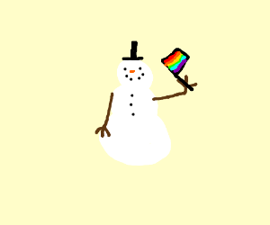 gay pride snow man
